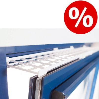 10 % rabatt! Trixie skyddsgaller för pivotfönster, ovansida/undersida - 1 st à L 75-125 × B 16 cm