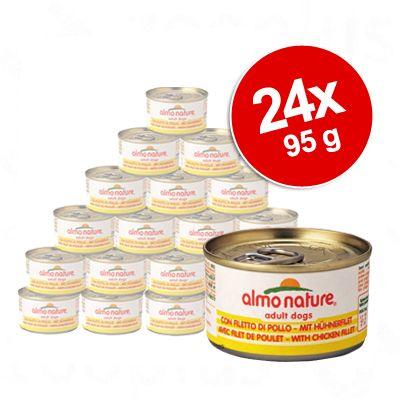 Almo Nature Classic -säästöpakkaus 24 x 95 g - vasikka & kinkku