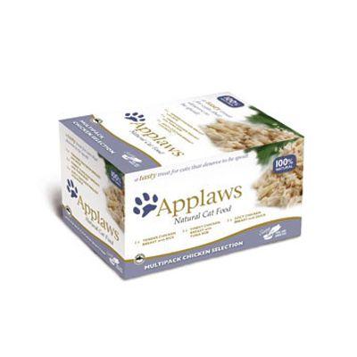 Blandpack: Applaws Cat Pot Selection kattmat - 8 x 60 g Kycklingvarianter