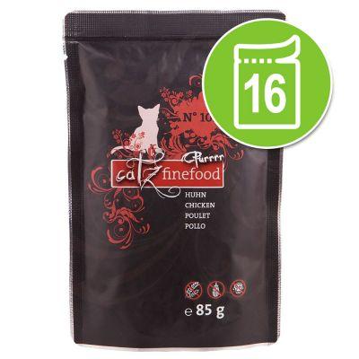 Catz Finefood Purrrr Pouch -säästöpakkaus: 16 x 80/85 g - No. 103 - kana (16 x 85 g)