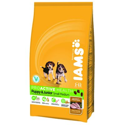iams-proactive-health-puppyjunior-small-medium-hondenvoer-12kg