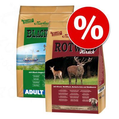 Markus Mühle -säästösekoitus 2 x 15 kg - mix: NaturNah & Red Deer