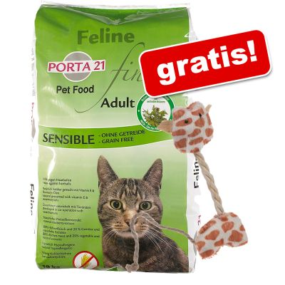 10 kg Porta 21 + Lilla Giraff kattleksak på köpet! – Holistic Cat Kyckling & ris