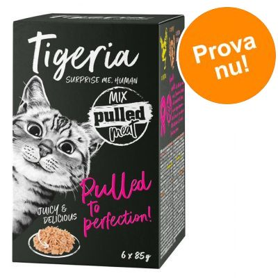 Blandat provpack Tigeria Pulled Meat 6 x 85 g - Mix (3 sorter)