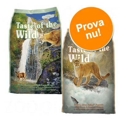 Provpack: Taste of the Wild 2 x 2 kg - Rocky Mountain och Canyon River