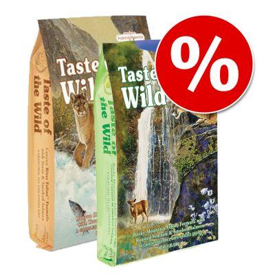 Taste of the Wild - Probeerpakket: 2 x 2 kg Taste of the Wild Droog Kattenvoer - 2 kg Rocky Mountain + 2 kg Canyon River