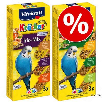 3 x 3 kpl: Vitakraft Trio-Mix -keksejä erikoishintaan! - kananmuna, aprikoosi + hunaja
