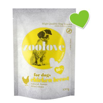 zoolove snacks liofilizados de pollo para perros - 5 x 100 g - Pack Ahorro
