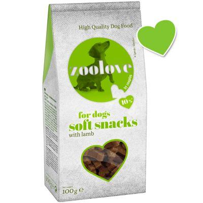 zoolove snacks semihúmedos para perros - Cordero 2 x 100 g - Pack Ahorro