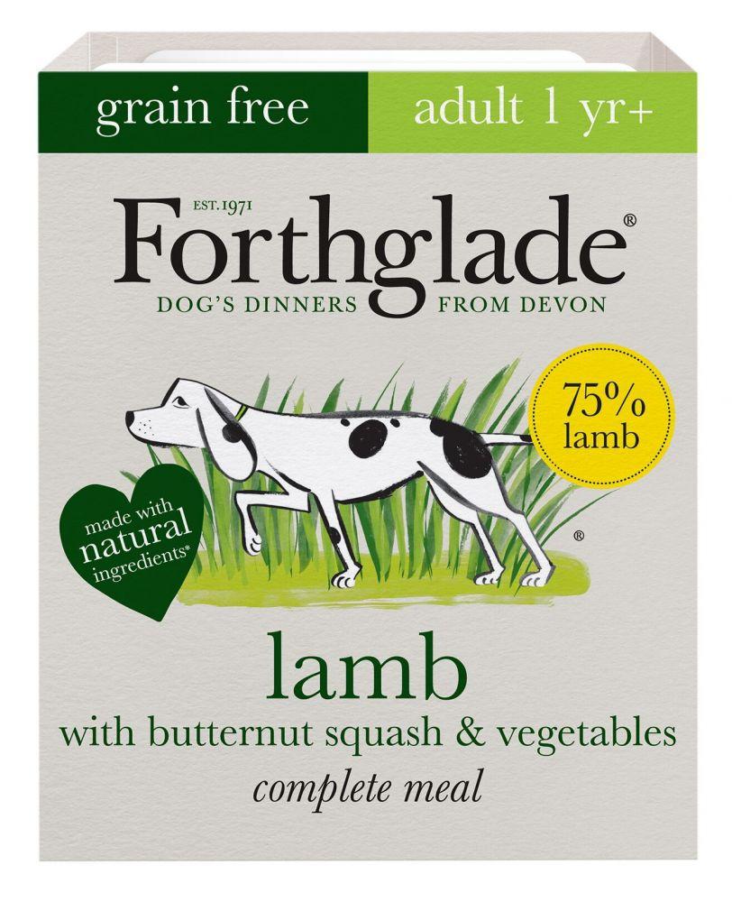 Forthglade Complete Meal Grain Free Adult Dog - Lamb - Saver Pack: 36 x 395g