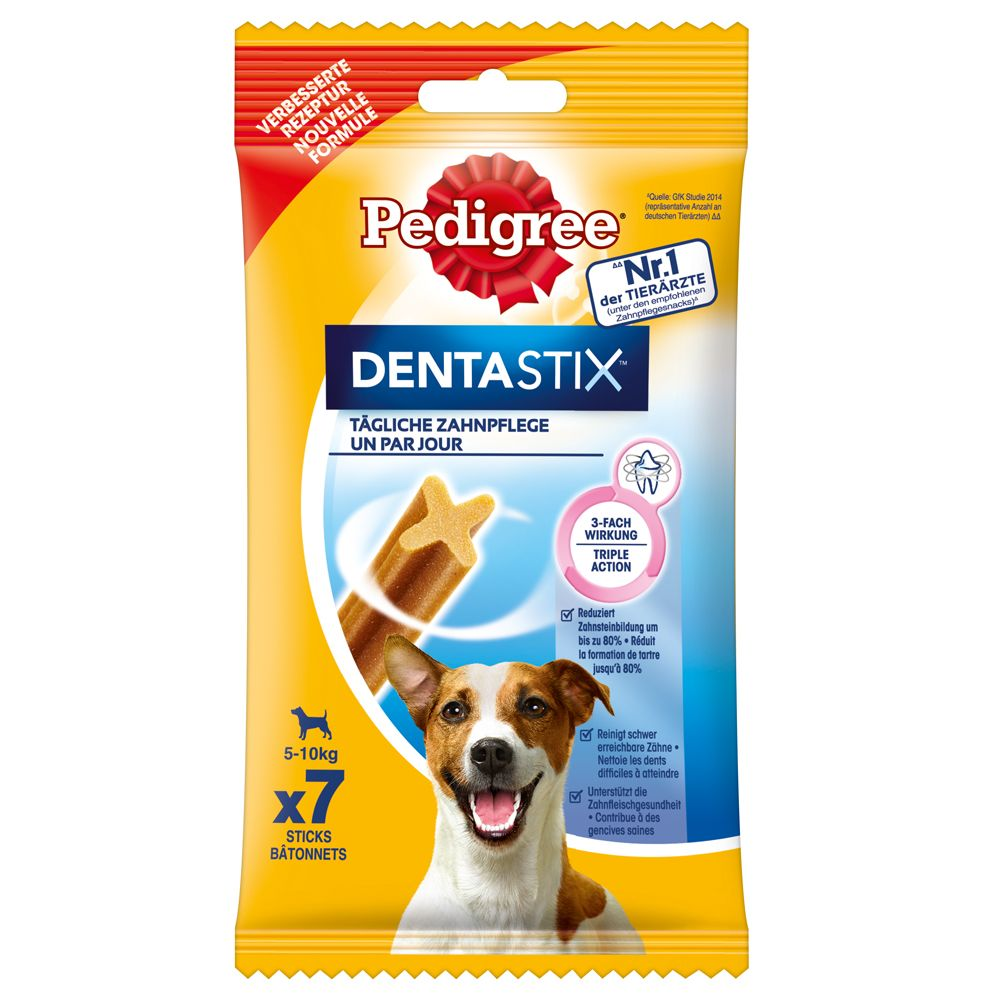 Pedigree DentaStix codzienna pielęgnacja zębów - Dla małych psów, 110 g, 7 szt