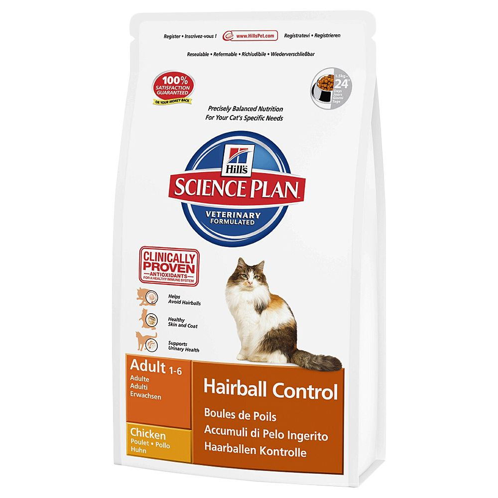 Hill's Science Plan Adult Cat Hairball Control - Chicken - 1.5kg