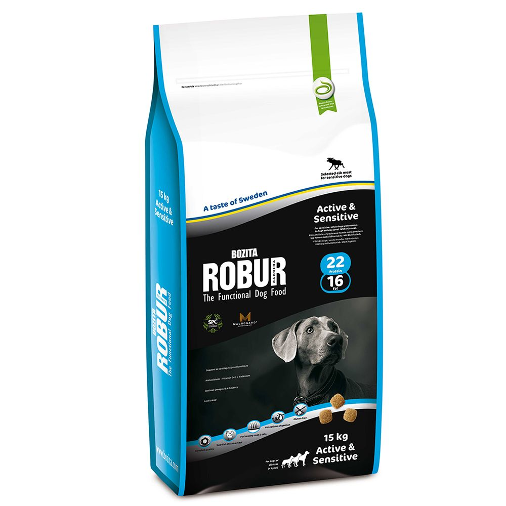 Bozita Robur Active & Sensitive 22/16 - 15kg