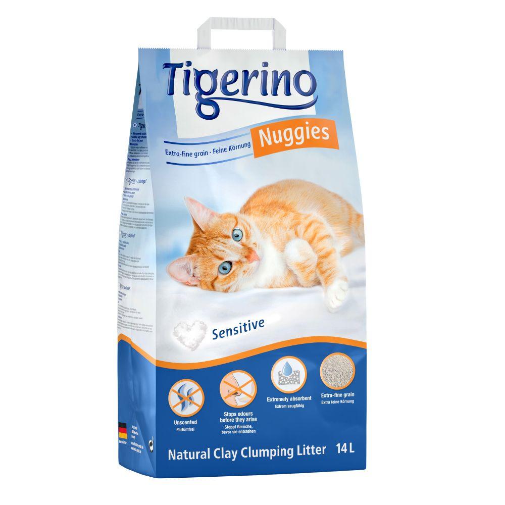 Tigerino Nuggies Ultra Katzenstreu - Sensitive (parfümfrei) - 2 x 14 l