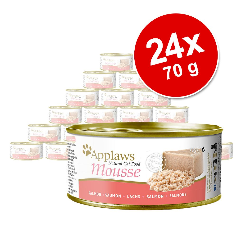 Ekonomipack: Applaws Mousse 24 x 70 g - Kyckling