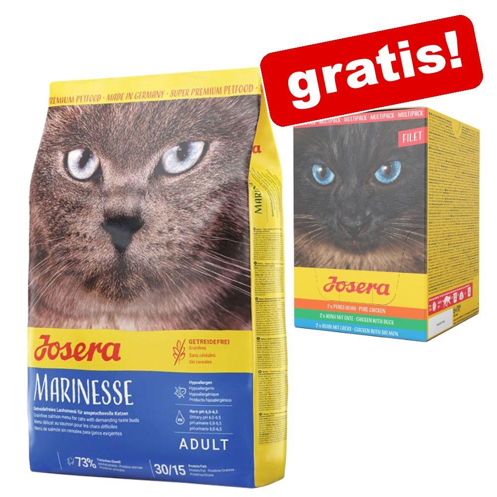 2 kg Josera Trockenfutter + 6 x 70 g Josera Filet Mix Nassfutter gratis! - SensiCat