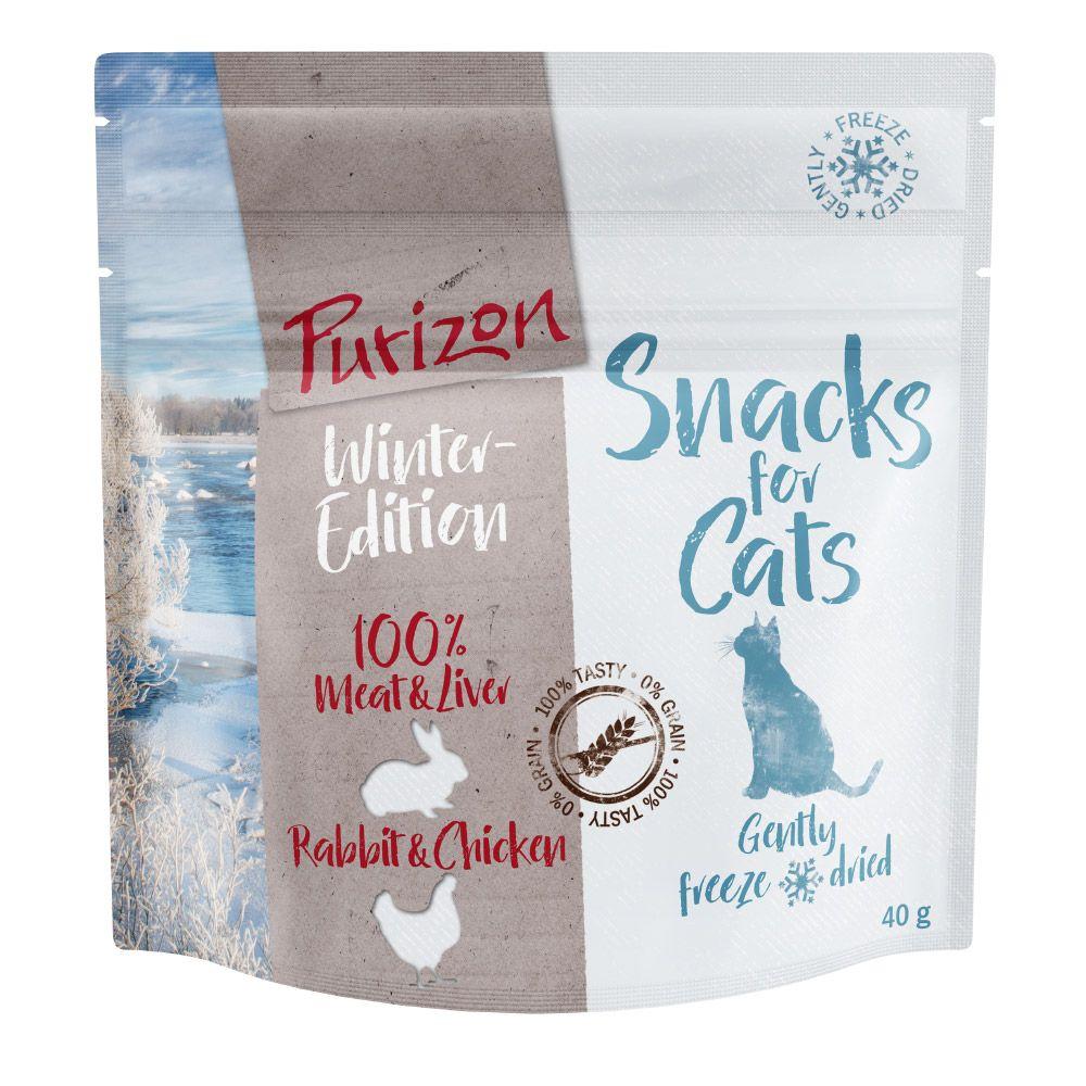 Purizon Snack Winter Edition Rabbit & Chicken - spannmålsfritt - 40 g
