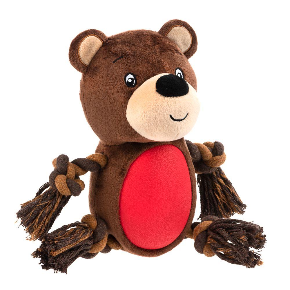 Björn med TPR hundleksak - 2 st i sparset