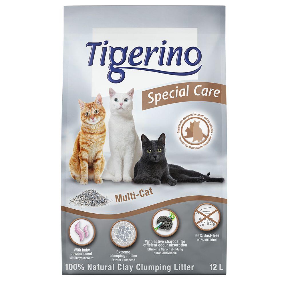 Tigerino Special Care Katzenstreu - Multi-Cat - Doppelpack 2 x 12 l