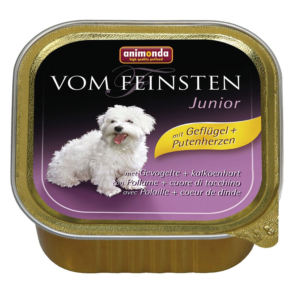 Animonda vom Feinsten Junior 6 x 150g - Poultry & Turkey Hearts
