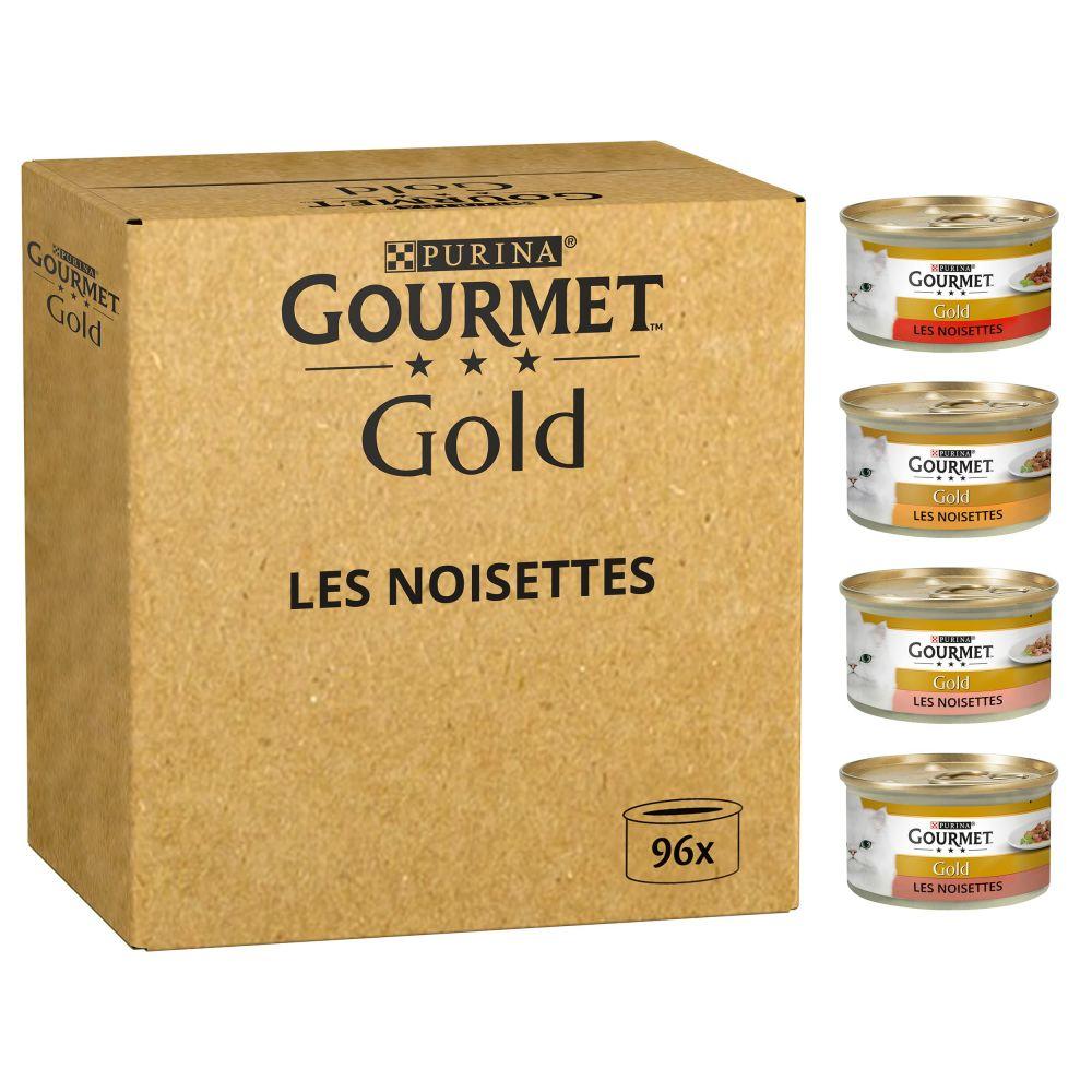 96x85g Jumbopack Gourmet Gold Recettes raffinées bœuf poulet thon saumon