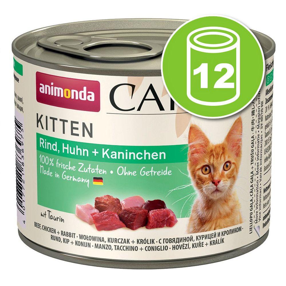 Lot Animonda Carny Kitten 12 x 200 g pour chaton - cocktail de viandes