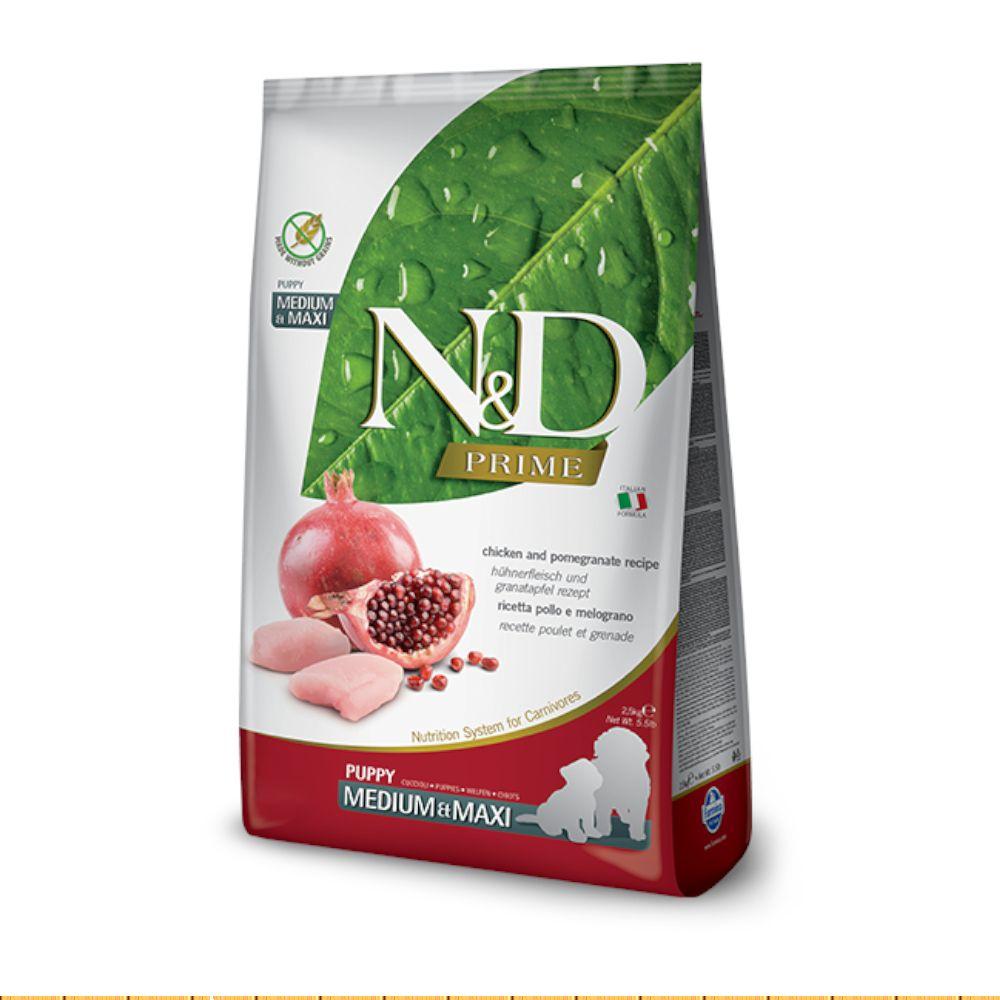 Farmina N&D Prime Canine Chicken & Pomegranate Puppy Medium/Maxi - Sparpaket: 2 x 12 kg