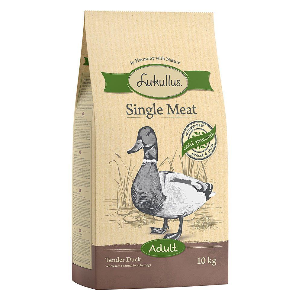 10kg Single Meat Mør And Lukullus kornfrit hundefoder