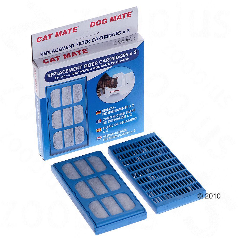 Filtres pour la fontaine à eau Cat Mate 2 L - 2 filtres de rechange