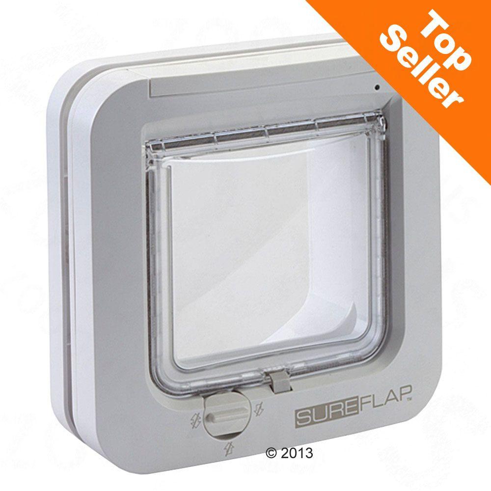 SureFlap Microchip kattlucka - Monteringsadapter för glas & metall, vit