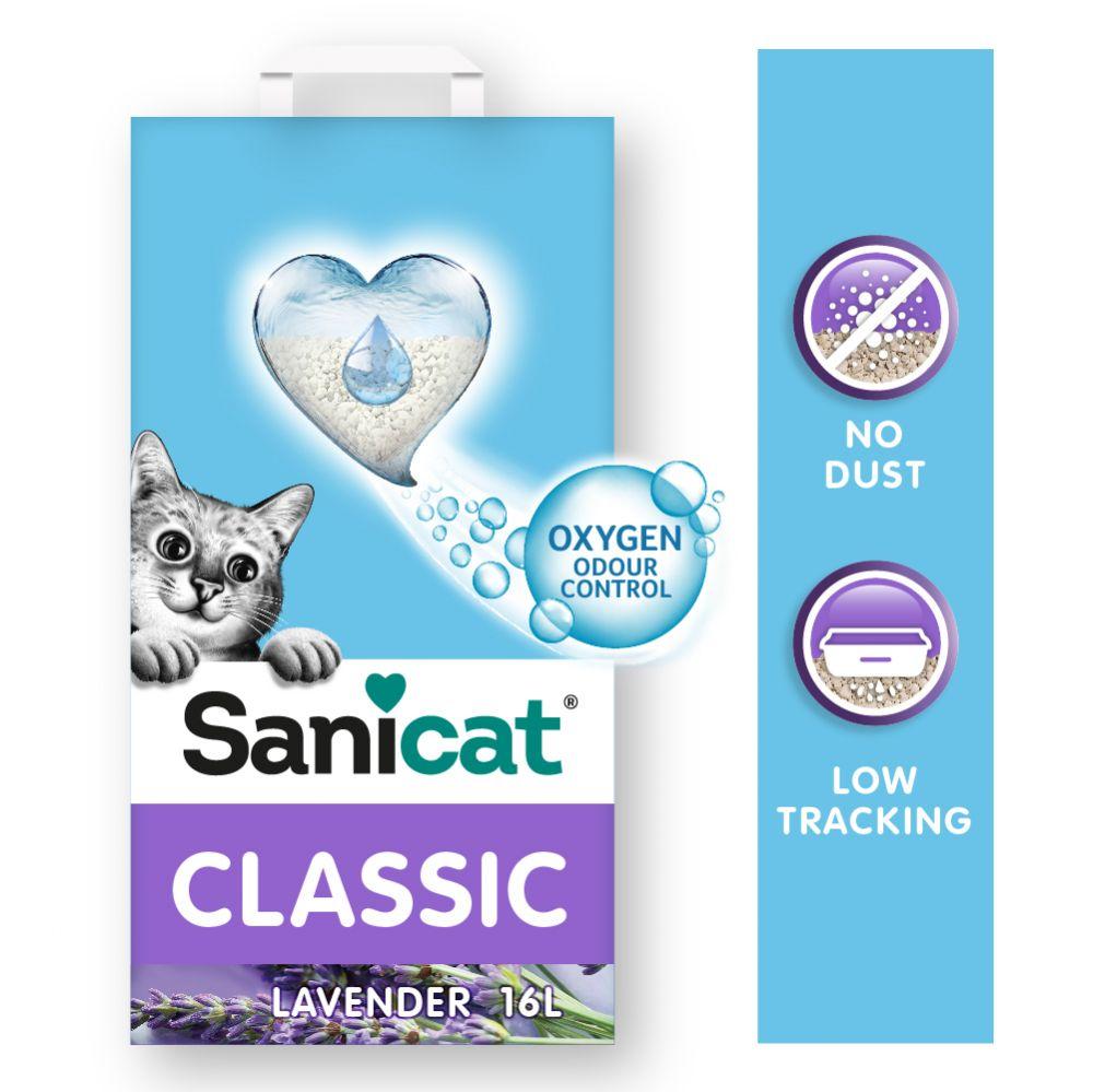 16L Litière Sanicat Classic lavande - pour chat