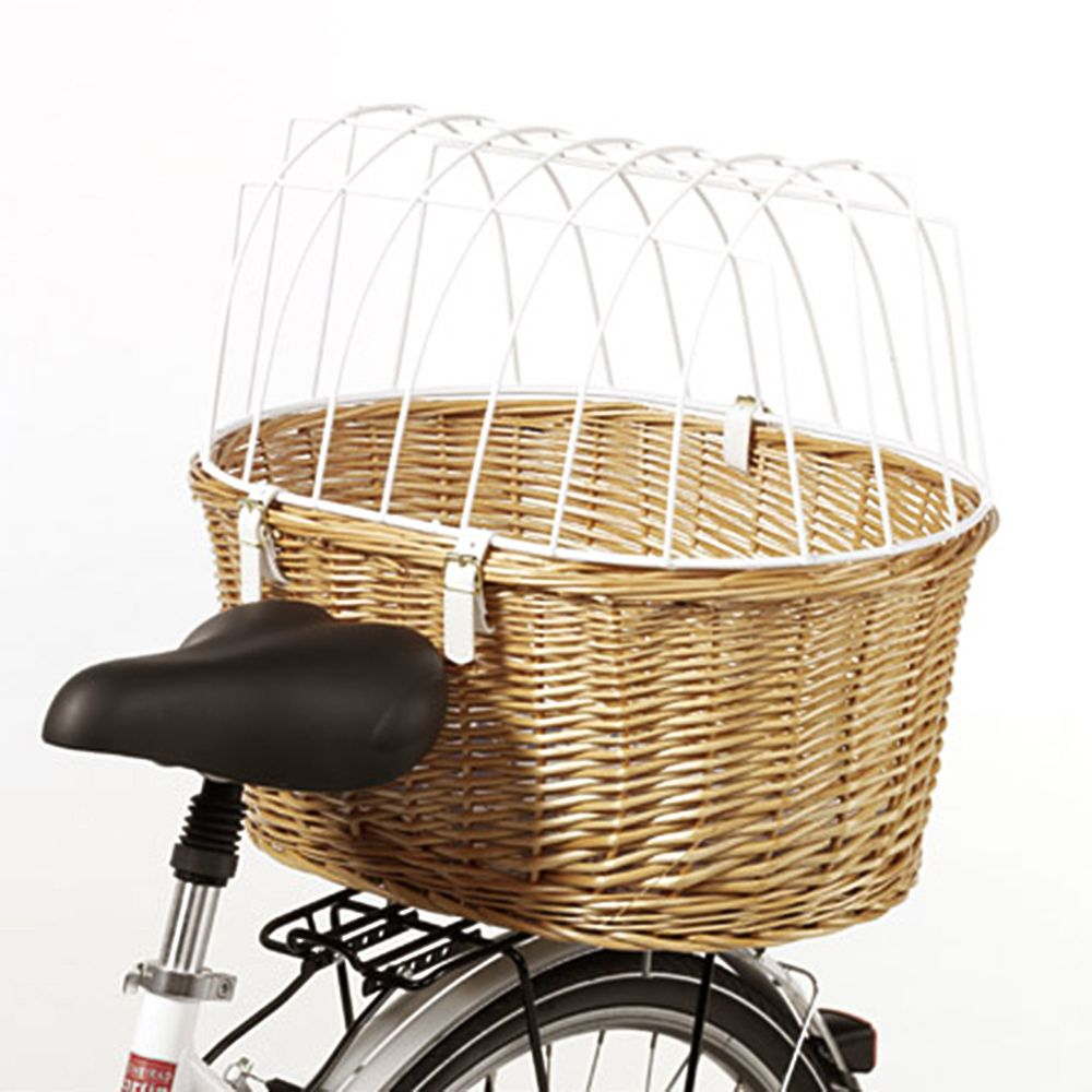 Aumuller Bicycle Basket with Protective Wire + Rain Cover Free!