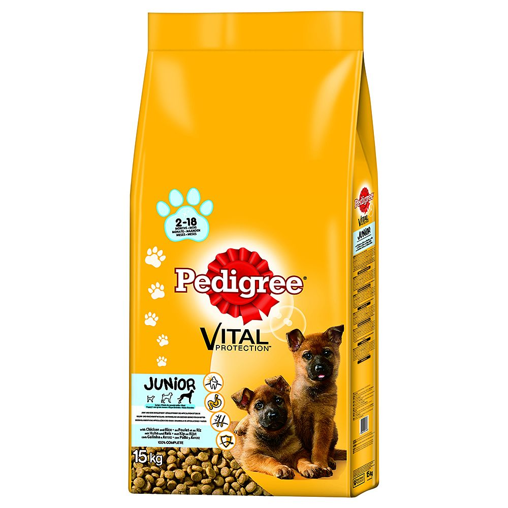 Pedigree Junior Maxi Complete with Chicken & Rice Dry Dog Food - 15kg