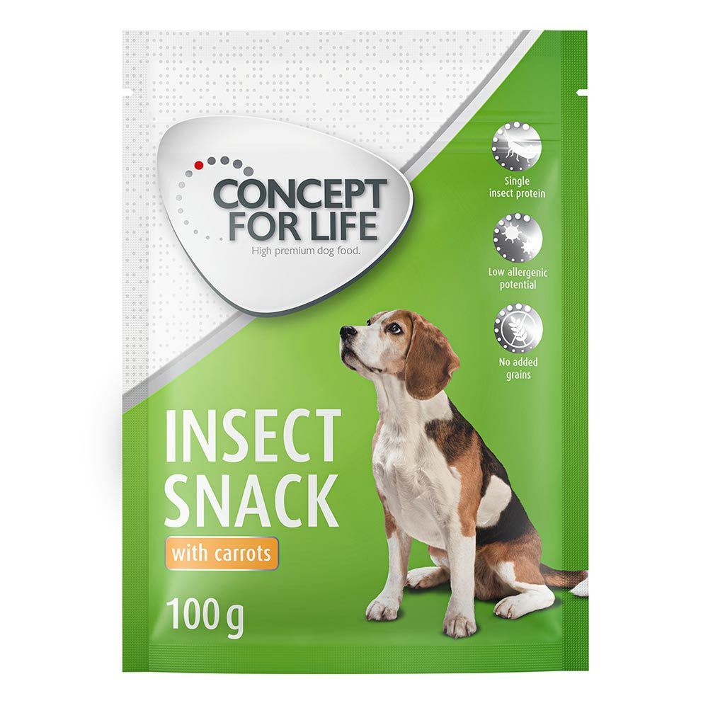Concept for Life Insect Snack mit Karotte  3 x 100 g