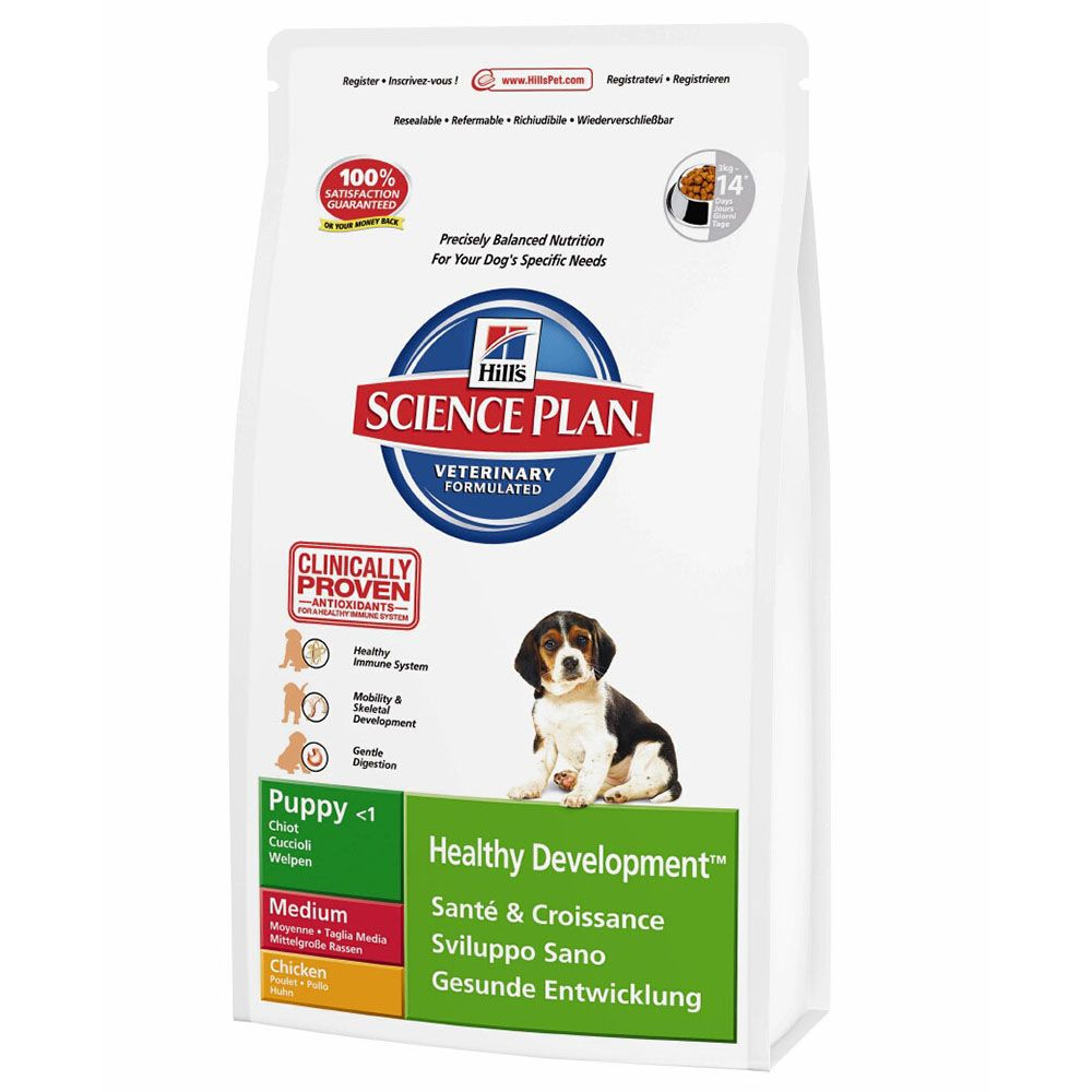 Hill's Science Plan Puppy Healthy Development Medium Chicken - Economy Pack: 2 x 12kg