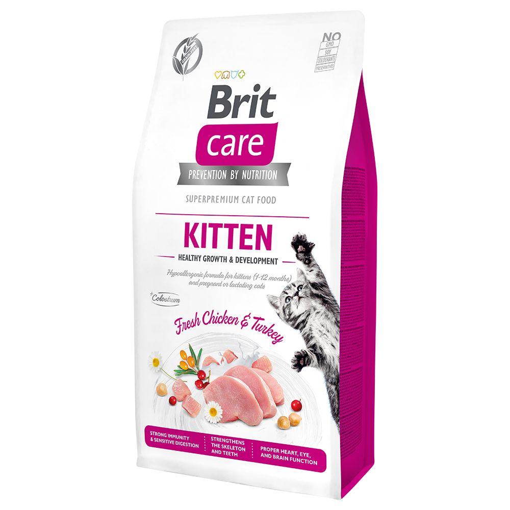 2x7kg Brit Care Grain-Free Kitten Healthy Growth & Development - Croquettes pour chat