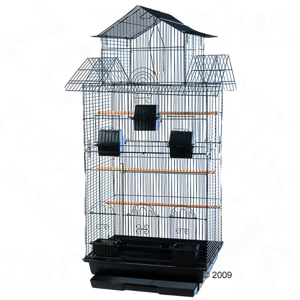Amilo klatka dla papug średnich - Szer. x gł. x wys.: 54 x 46 x 101 cm