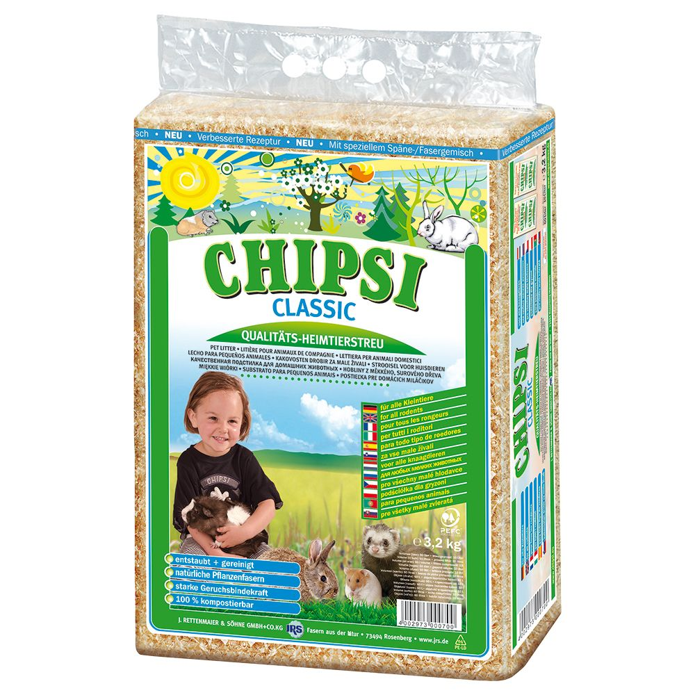 Chipsi Classic Pet Bedding - Economy Pack: 2 x 3.2kg