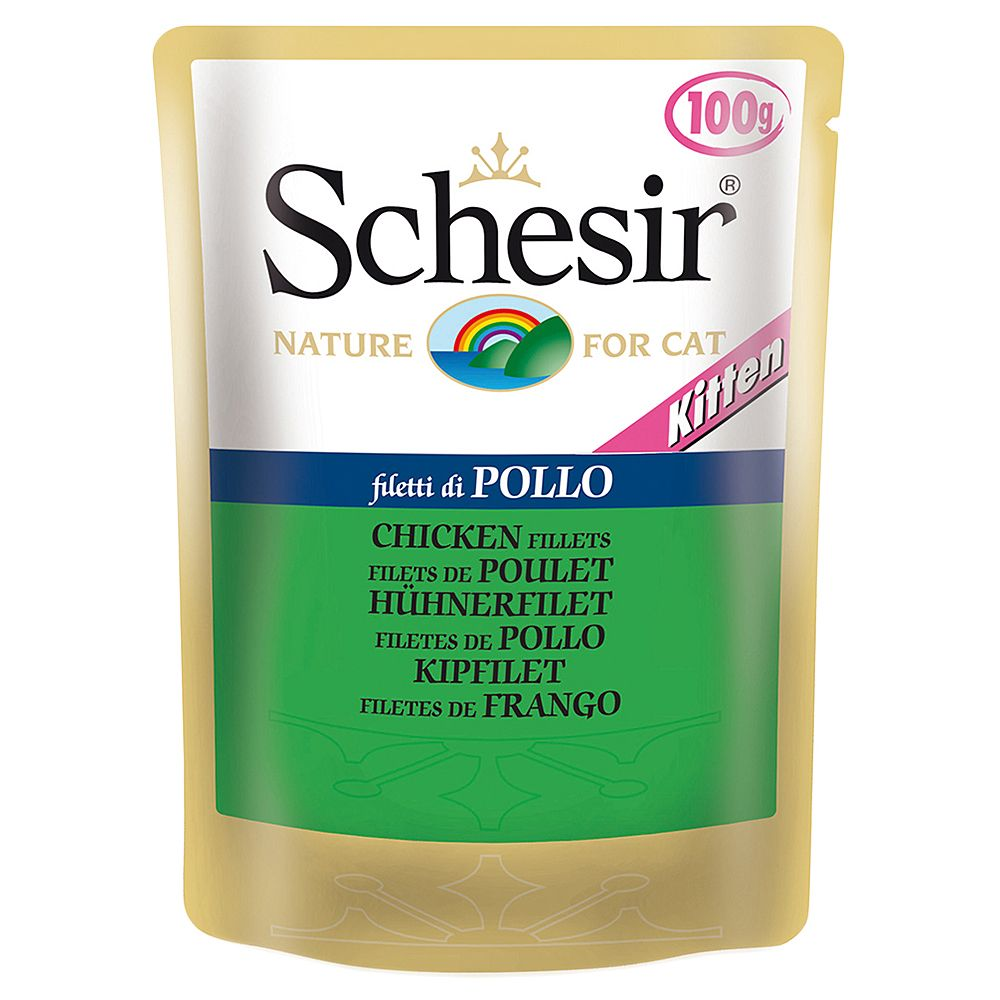 Schesir Pouch Saver Pack 24 x 100g - Kitten Chicken Fillet