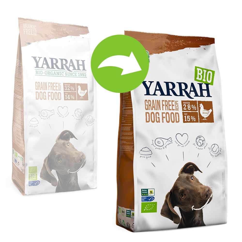 Yarrah Organic Grain Free med ekologisk kyckling - Ekonomipack: 2 x 10 kg