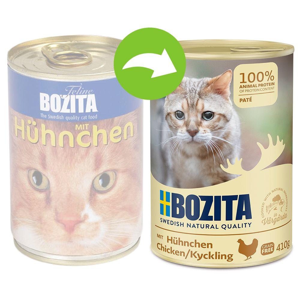 Bozita Feline våtfoder på burk 6 x 410 g - Kyckling