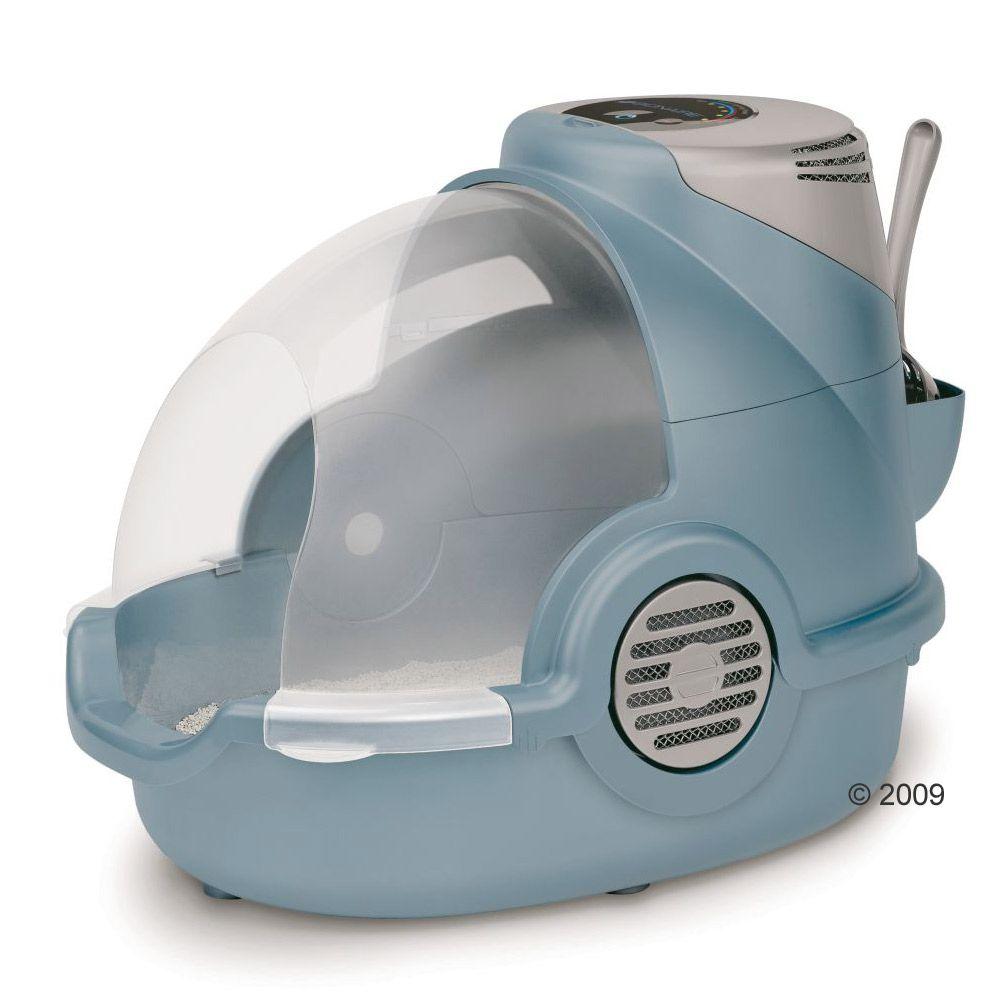Maison de toilette Oster anti-odeurs pour chat - gris