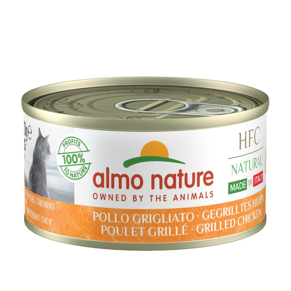 Almo Nature HFC Natural Made in Italy 6 x 70 g - Skinka & ost