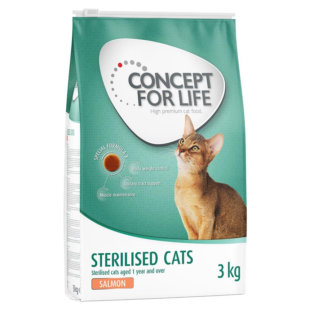 Concept for Life Sterilised Cats Lachs - Als Ergänzung: 12 x 85 g Concept for Life Sterilised Cats in Soße