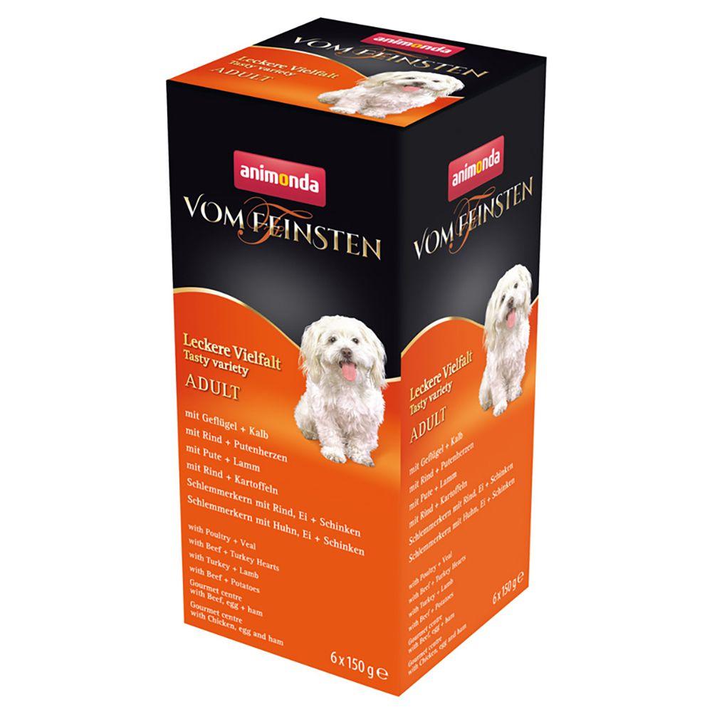 6x150g Adult 6 variétés Animonda Vom Feinsten - Pâtée pour chien
