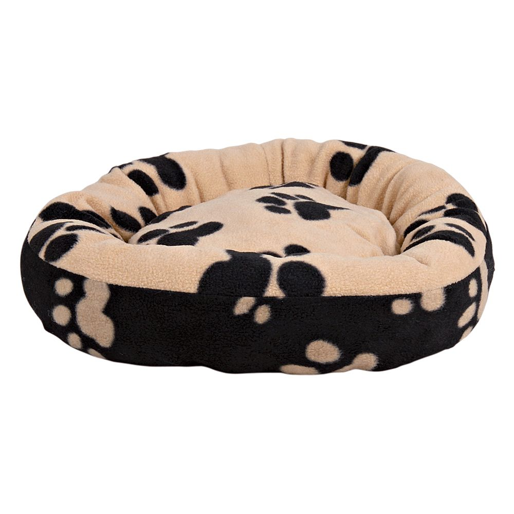Trixie Sammy Snuggle Bed - Black / Beige - Diameter 70cm