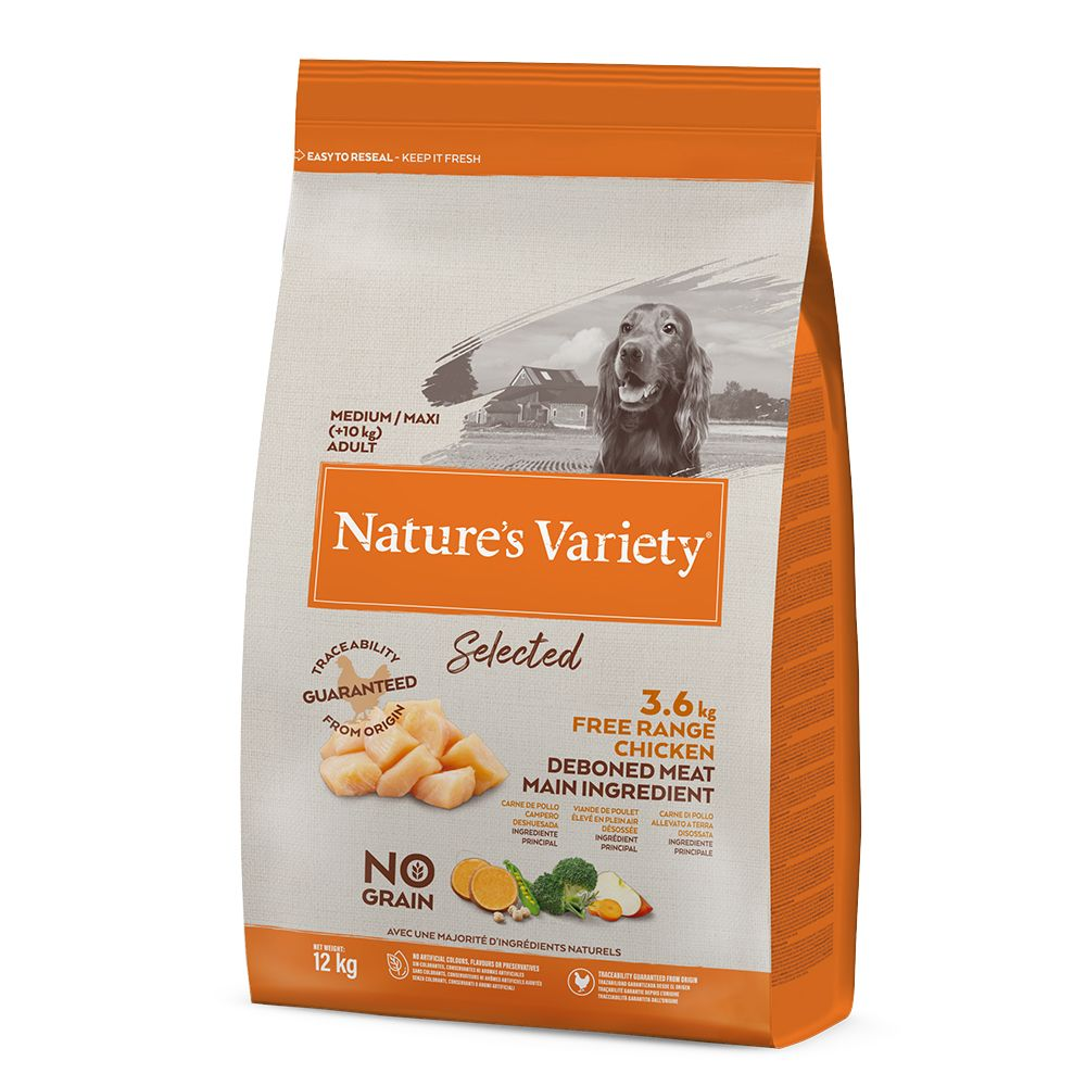 Nature's Variety Selected Medium Adult Free Range Chicken - Ekonomipack: 2 x 12 kg