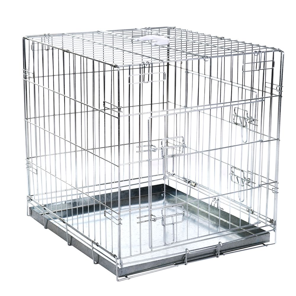 Double Door Transport Cage - Size L: 89 x 60 x 66 cm (L x W x H)