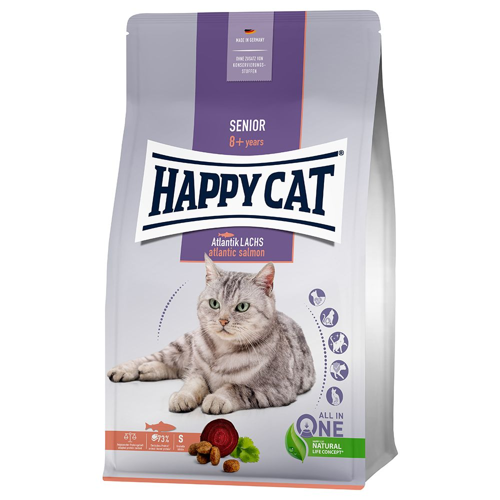 Happy Cat Senior Atlantik-Lachs - 4 kg