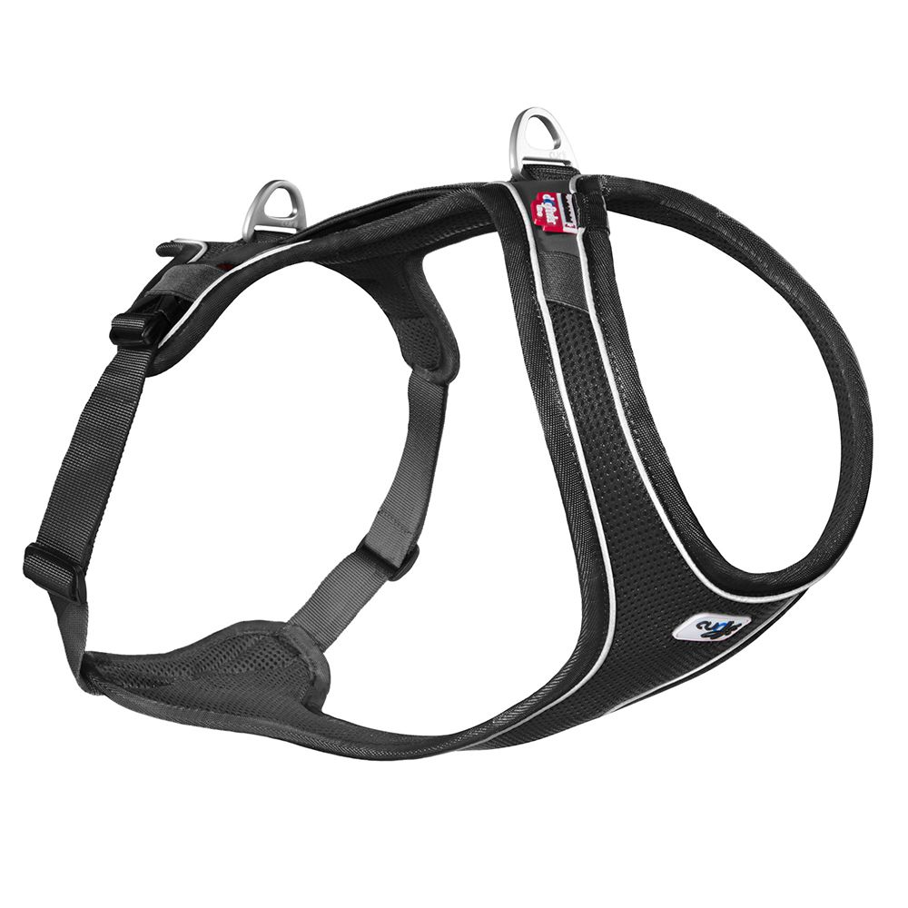 Curli Belka Comfort Geschirr - schwarz - Größe XL: Brustumfang 76 - 82 cm
